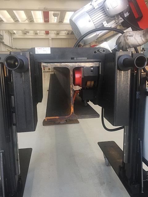 G.B.C. BeamEdge Fasenfräsmaschine für T-Träger
