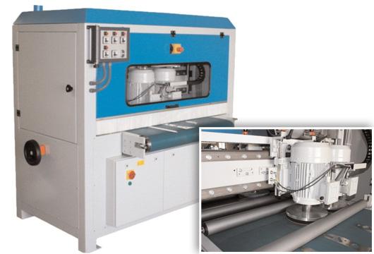 Loewer DiskMaster als Durchlaufschleifmaschine für die Verrundung und Oberflächenbearbeitung