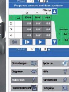 masub Schroeder Schwenkbiegemaschine Nano Touch Programmbeispiel