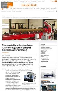 Teaser Handelsblatt Rohrbearbeitung