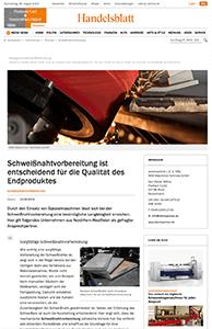 Teaser Handelsblatt Schweissnahtvorbereitung
