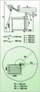 masub Gamor Gewindeschneidmaschine Hydraulisch Rhg M130 Dimensionen