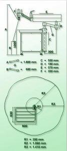 masub Gamor Gewindeschneidmaschine Hydraulisch Rhg M30 Dimensionen
