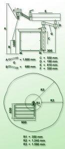 masub Gamor Gewindeschneidmaschine Hydraulisch Rhg M45 Dimensionen
